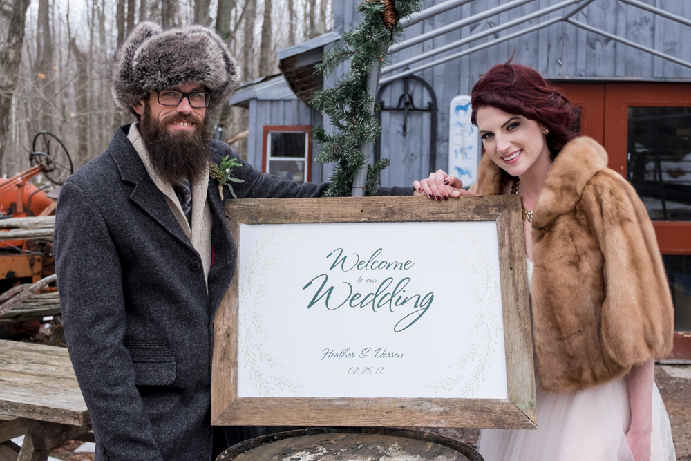 Winter Wedding by Candra Schank Photography at Dual Acres Sleigh & Wagon Rides
